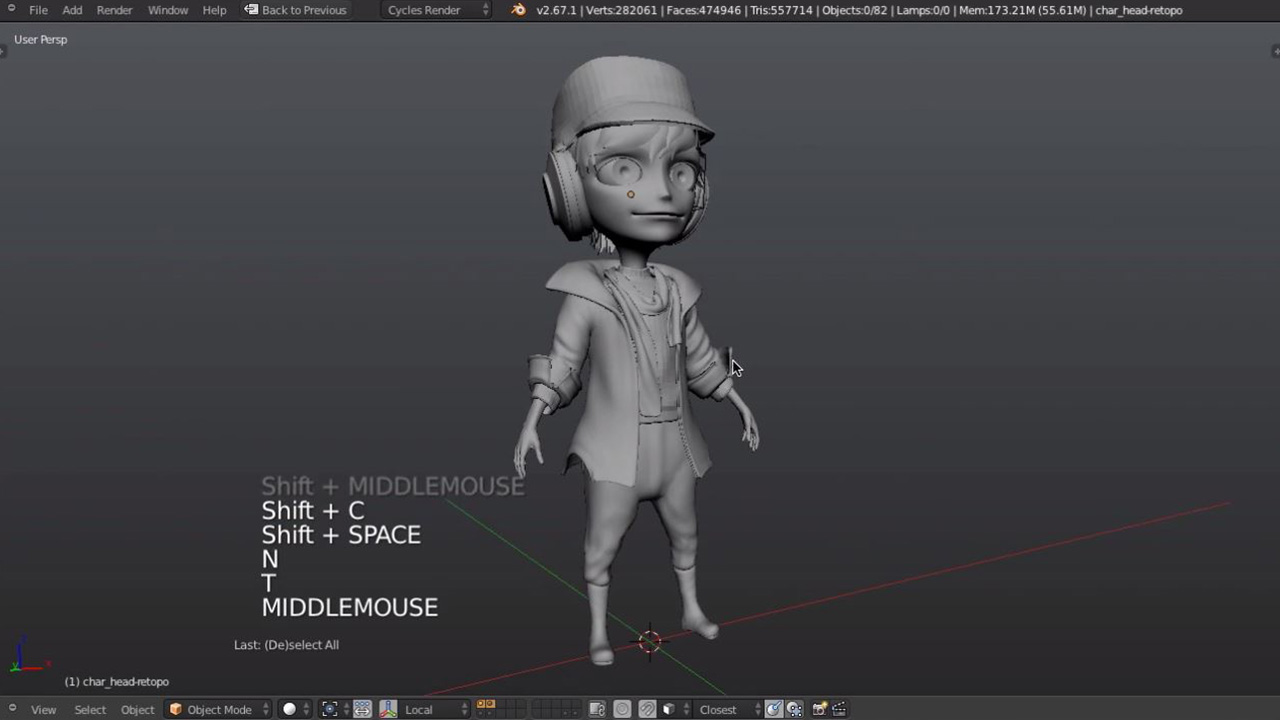 Blender Character Modeling Workflow : Introduction to character modeling cg cookie