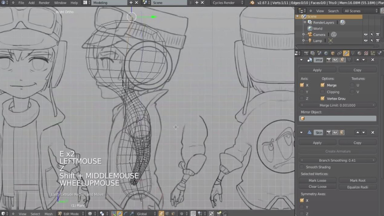 Introduction To Character Modeling In Blender : Introduction to character modeling cg cookie